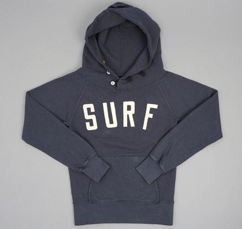 "Kapital ""SURF"" HOODIE, NAVY :: HICKOREE'S"