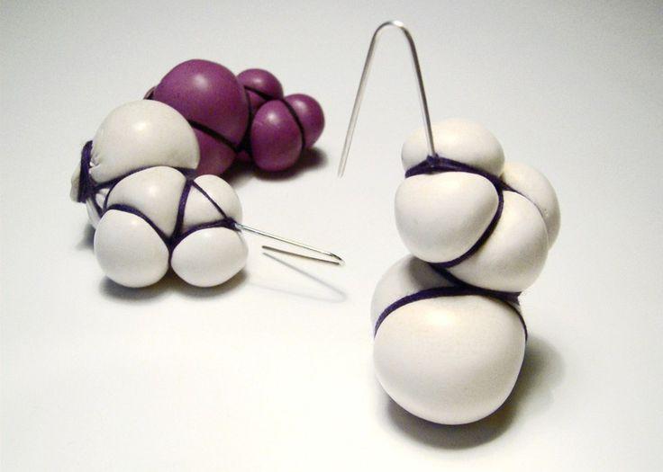 Bondage Earrings by Lucie Houdková.