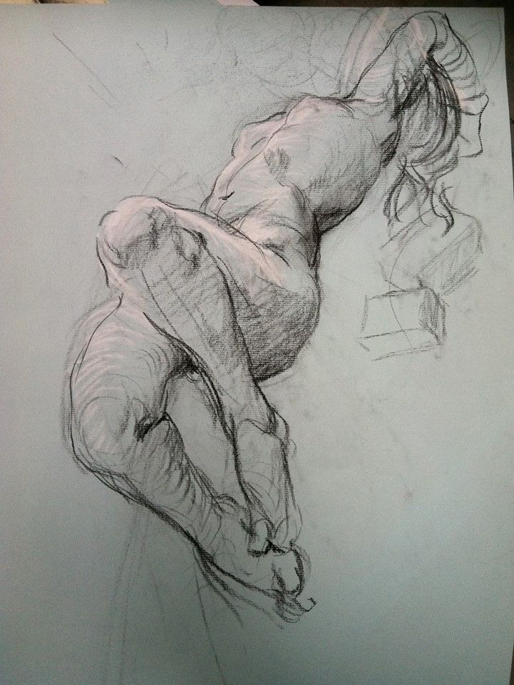life drawing by Steven Assael 2014-08 • official fb: https://www.facebook.com/steven.assael
