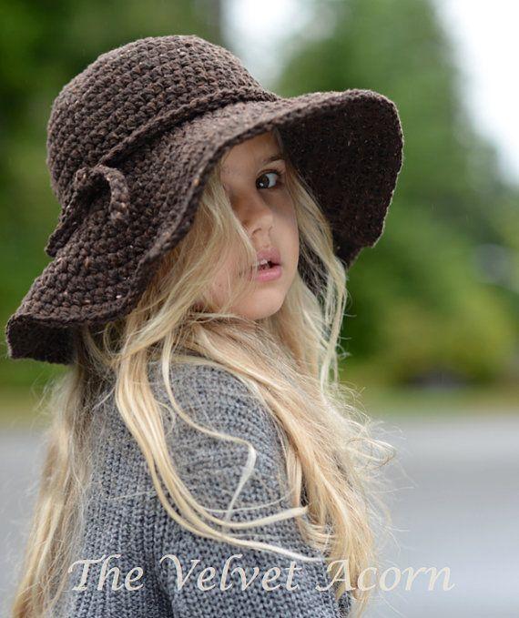 CROCHET PATTERN-The Wanderlust Brim Hat Toddler Child and