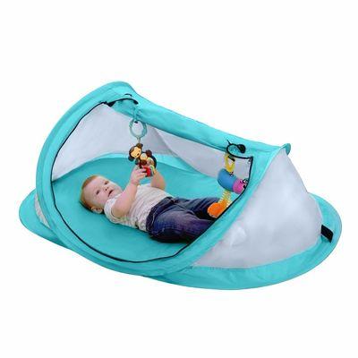 Tenda Portatil Mosquiteiro. Dobravel Cor: Azul ou Verde Medidas aberto: 108x65x50cm Proteção para seu bebê Conteudo: 1 x tenda portatil mosquiteiro  Frete gratis para todo Brasil.