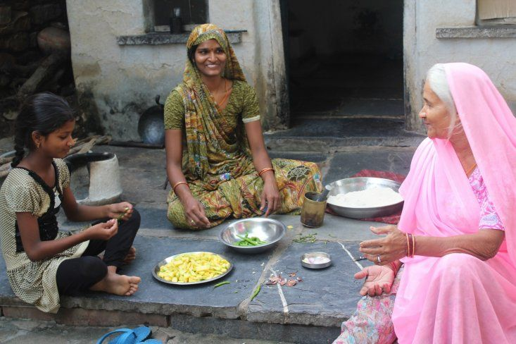 The meal is a collective effort: Rajasthan, India #india #travel #Kamalan #culture #photo #food #Rajasthan