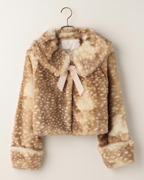 Affordable short fur coat | Shirabe 109 popular Girlie Fashion Liz Lisa official mail order