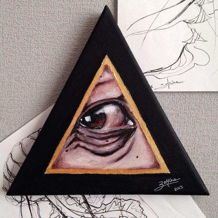 Art, acrylic, eye