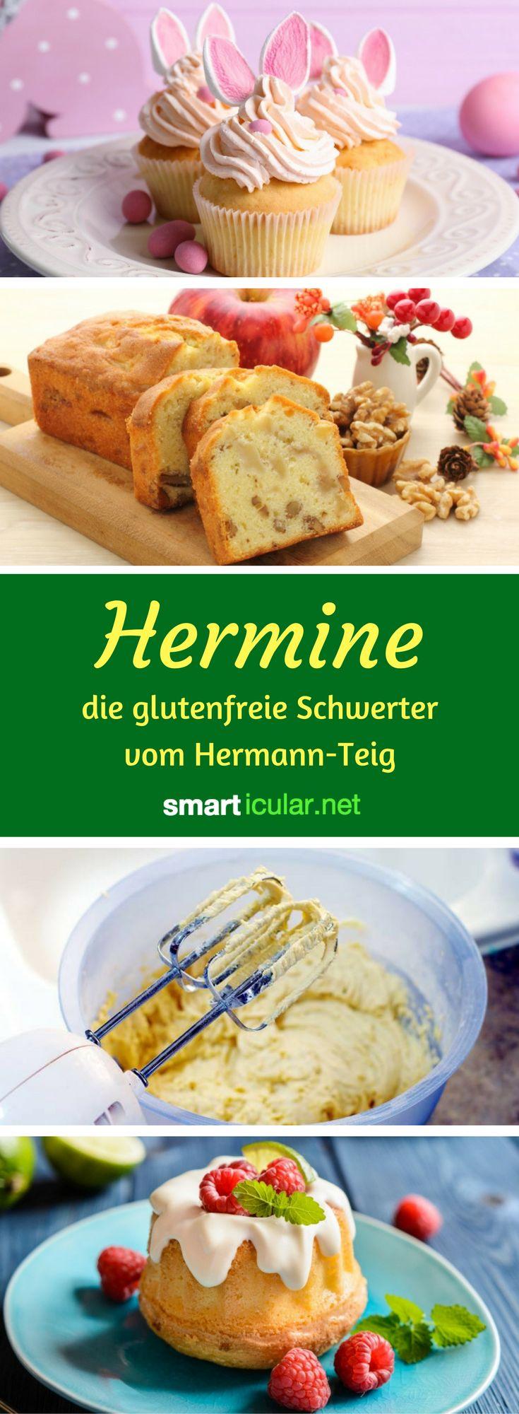 """Erinnerst du dich an Hermann, den selbst vermehrenden Kuchenteig zum Backen und Verschenken? Mit diesem Rezept kannst du """"Hermine"""" glutenfrei selber machen!"""
