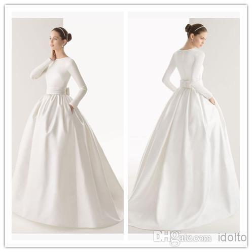 Свадебное  в пол с длинным рукавом