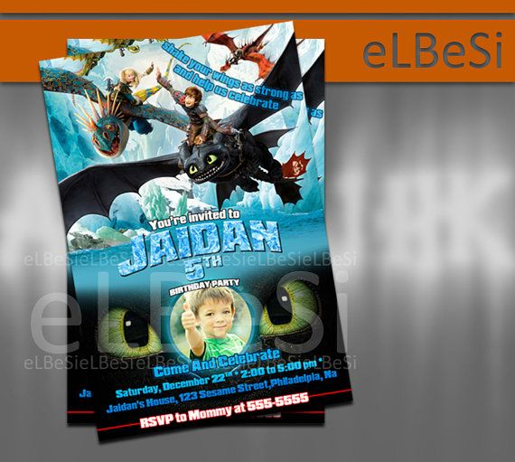 How To Train Your Dragon Toothless Birthday Invitation  - Invitation Card