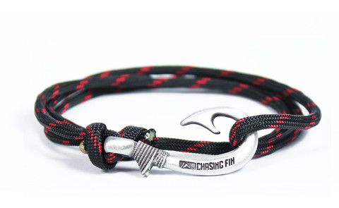 Red Thin Line Fish Hook Bracelet (New)