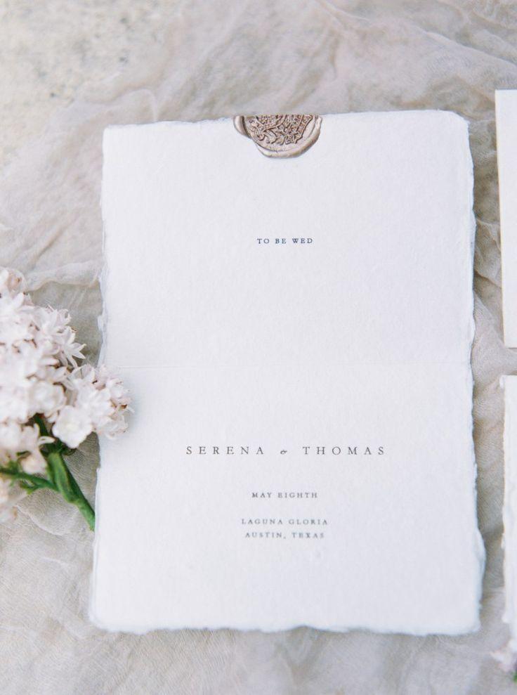 Modern Minimal Wedding Invitations Featured on Style