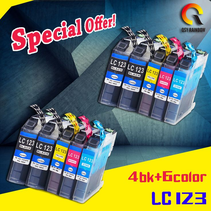 10PCS compatible ink cartridge LC123 for Brother MFC-J4410DW/J4510DW/J4610DW/J4710DW/J470DW/ J6920DW/J870DW/J245/J650DW/J6720DW #Affiliate