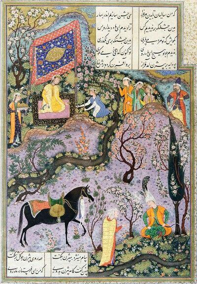 داستان بیژن و منیژه یکی از نگاره های شاهنامه تهماسبی در قرن دهم هجری