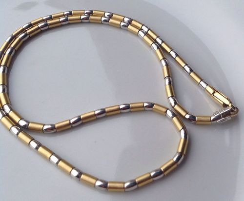 Girocollo Unisex In Oro Bianco E Giallo 750/1000 18Kt