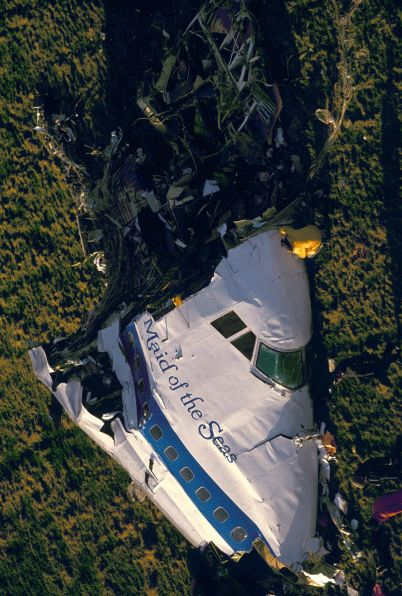 December 21, 1988: Pan Am Flight 103  was destroyed by a bomb killing all 243 passengers and 16 crew members. Large sections of the plane crashed into Lockerbie, Scotland, killing an additional 11 people on the ground.