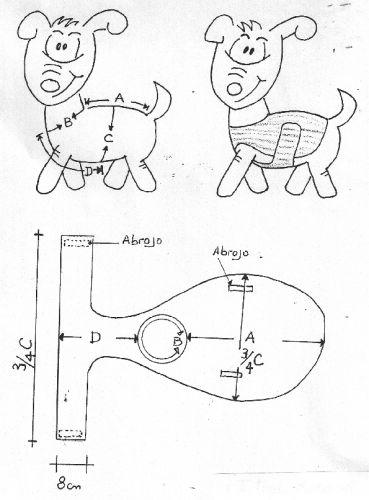 Moldes ropa perro