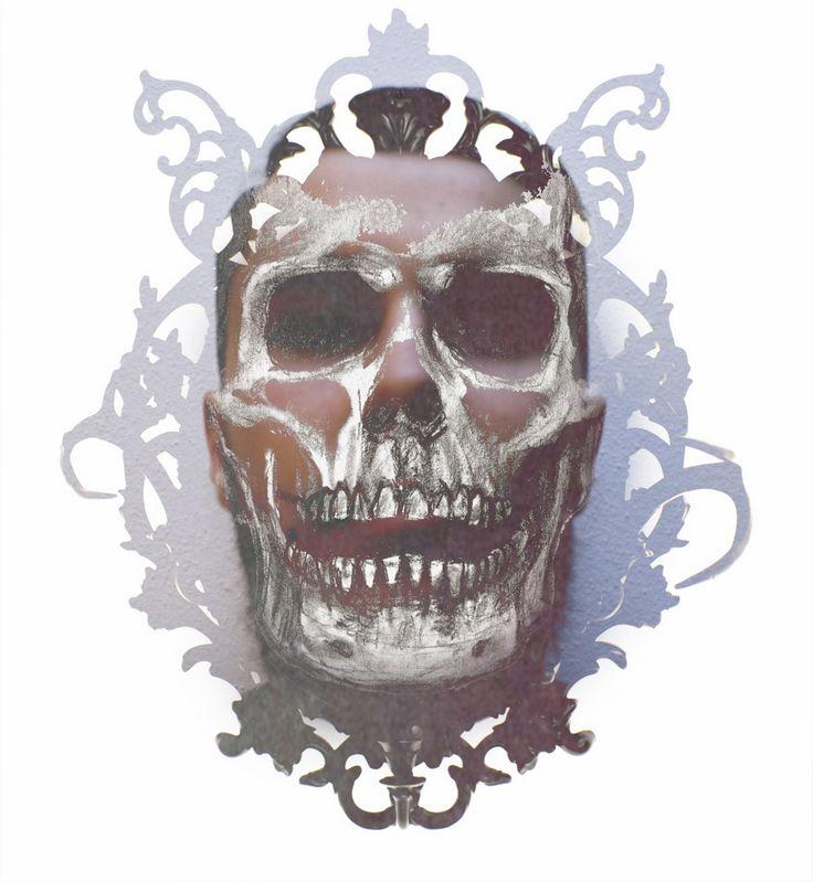 #art #arte #skull #teschio #grafica #graphic #illustration #illustrazione #death #old #vintage