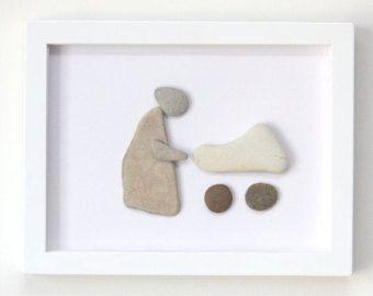 Kiezel kunst Moeder en kind europeanstreetteam door SkyLineDesign777