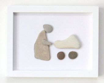 pebble art picture by SkyLineDesign777 on Etsy