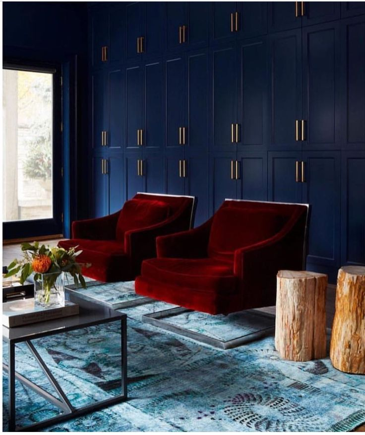 #red #livingroom #wallstorage