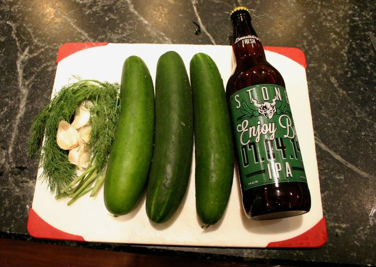Stone Cold IPA Pickles - Looks easy and yummy! And an excuse to drink the rest of the bottle once you make these.