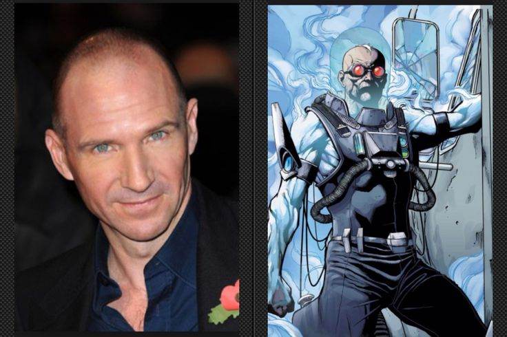 Ralph Fiennes as Victor Fries / Mister Freeze  Ralph is a great actor who can play a cold villian like Voldemort in the Harry Potter Franchise and looks the part and has been in great films like Skyfall and The Great Budapest Hotel