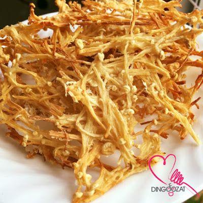 Miki's Food Archives : Baked Crispy Enoki Mushroom - Oil Free 香脆金针菇-无油