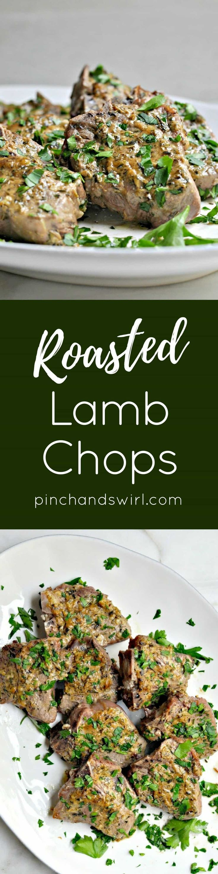 Of all of the Lamb Chop Recipes, this one is my favorite! These lamb chops are roasted in the oven for 15 minutes and require just 5 minutes of prep! Make them for date night or even a dinner party! #lambchops #dinnerparty #datenightideas #easymeals #easydinner