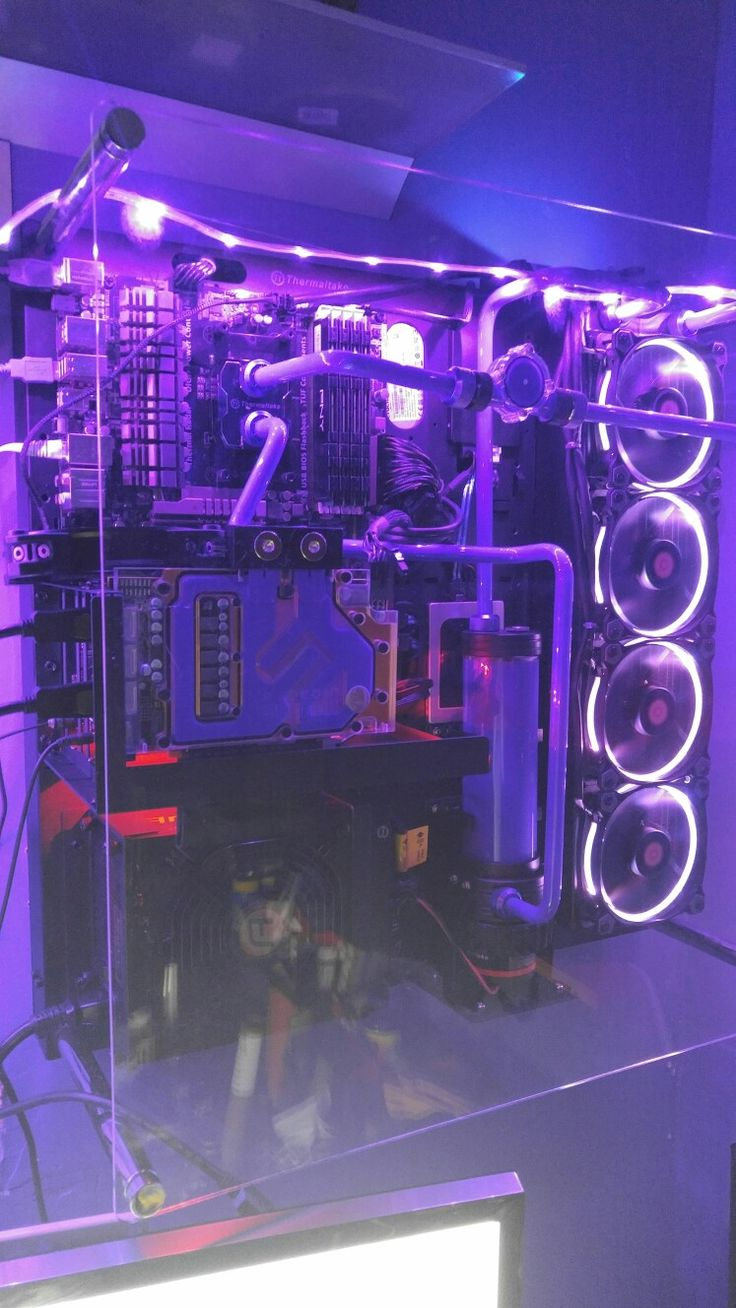 My new purple custom water loop system. Build it myself!