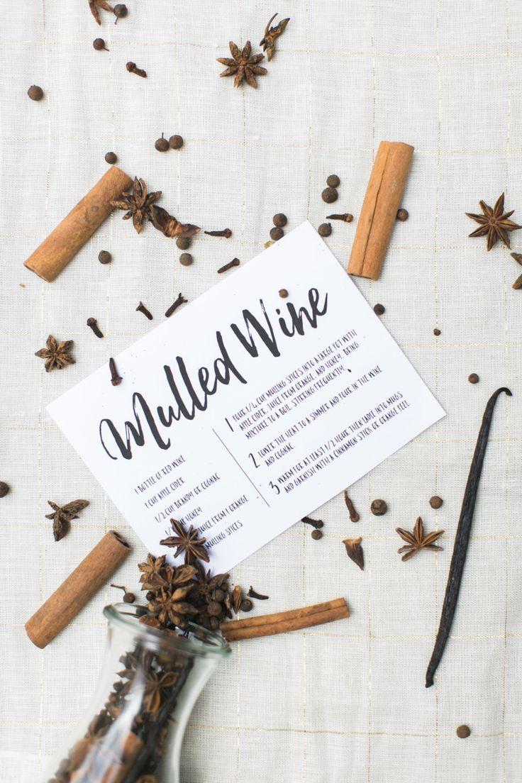 Hostess Gift: DIY Mulled Wine Kit