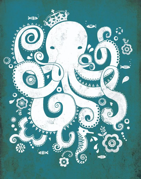 octopus art | Royal Octopus Art Print
