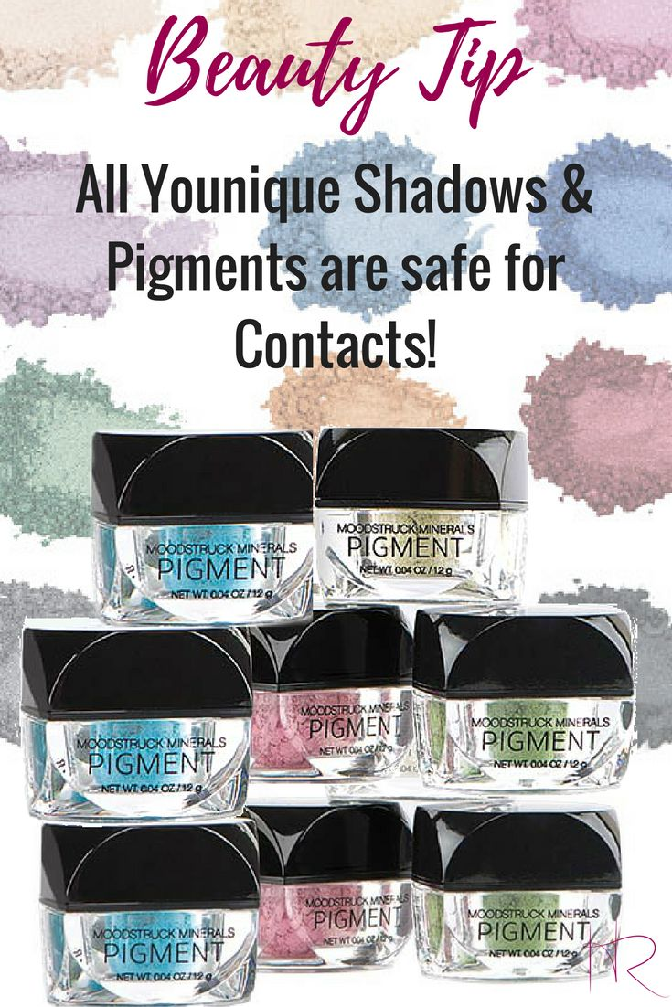 Are you a contact lens wearer?  Not all cosmetics are safe for contacts, but Younique shadows are pigments are!