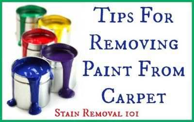 'Removing Paint From Carpet: Tips & Home Remedies...!' (via stain-removal-101.com)