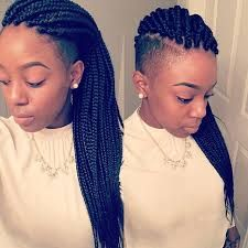 Image result for african american braid hairstyles with shaved haircut