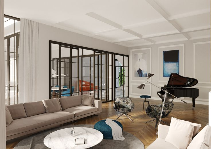 Living room interior design by Thespace