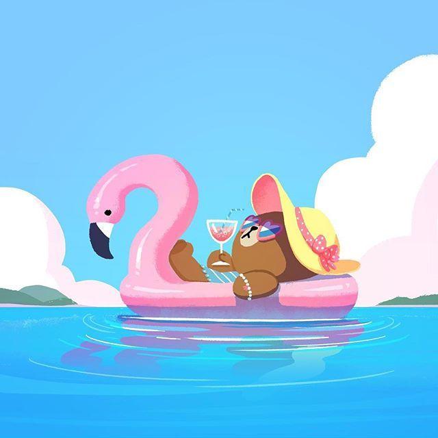 Choco on vacation