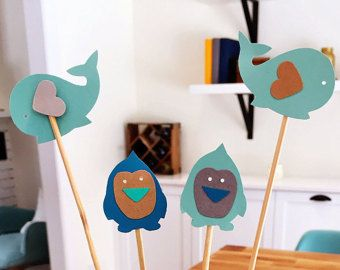 Arctic cupcake toppers - whales and penguins