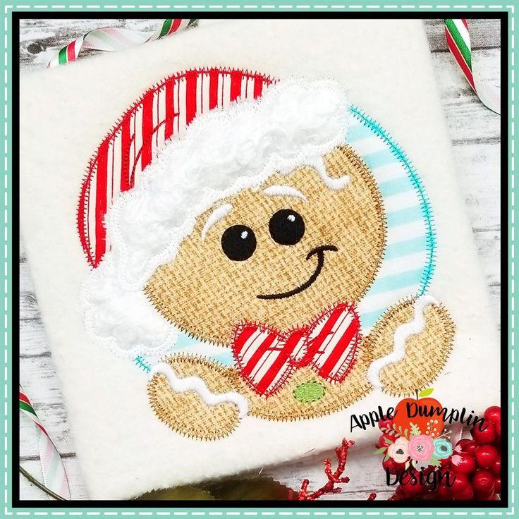boy gingerbread applique design Applique designs