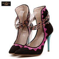 Горячая 2015 новый европейский стиль летние сандалии женщин острым носом сексуальные тонкие высокие каблуки ночной клуб обувь туфли на высоком каблуке размер 35-39 бесплатная доставка