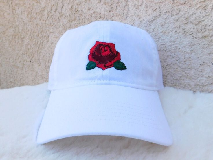 Embroidered Rose Patch Dad Hat, Rose Baseball Hat, Rose Dad Hat, Red Rose Baseball Hat, White Dad Hat, White Baseball Hat, Rose Hat, Women's by FeastorFamineDesigns on Etsy https://www.etsy.com/listing/539156811/embroidered-rose-patch-dad-hat-rose