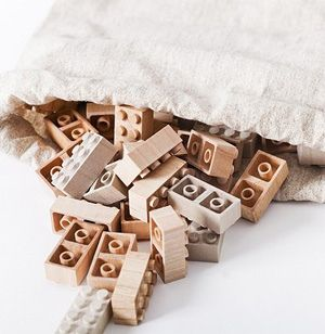 Lego-Bricks made from Wood