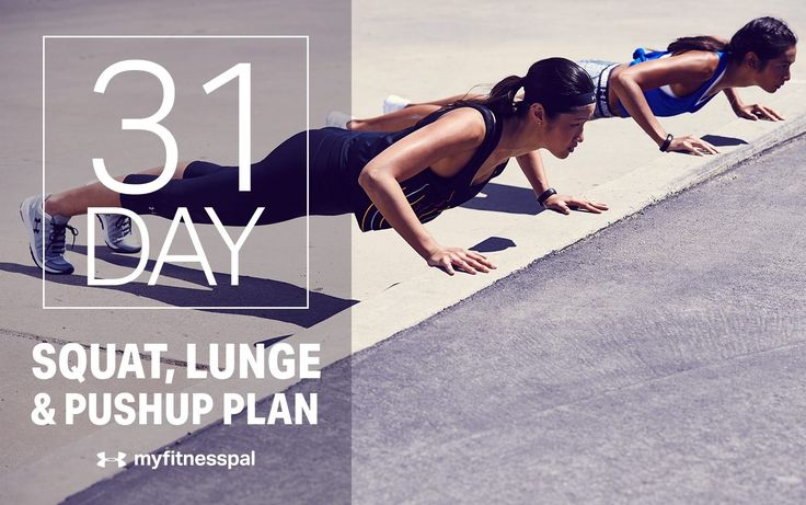 31-Day Squat, Lunge and Pushup Plan
