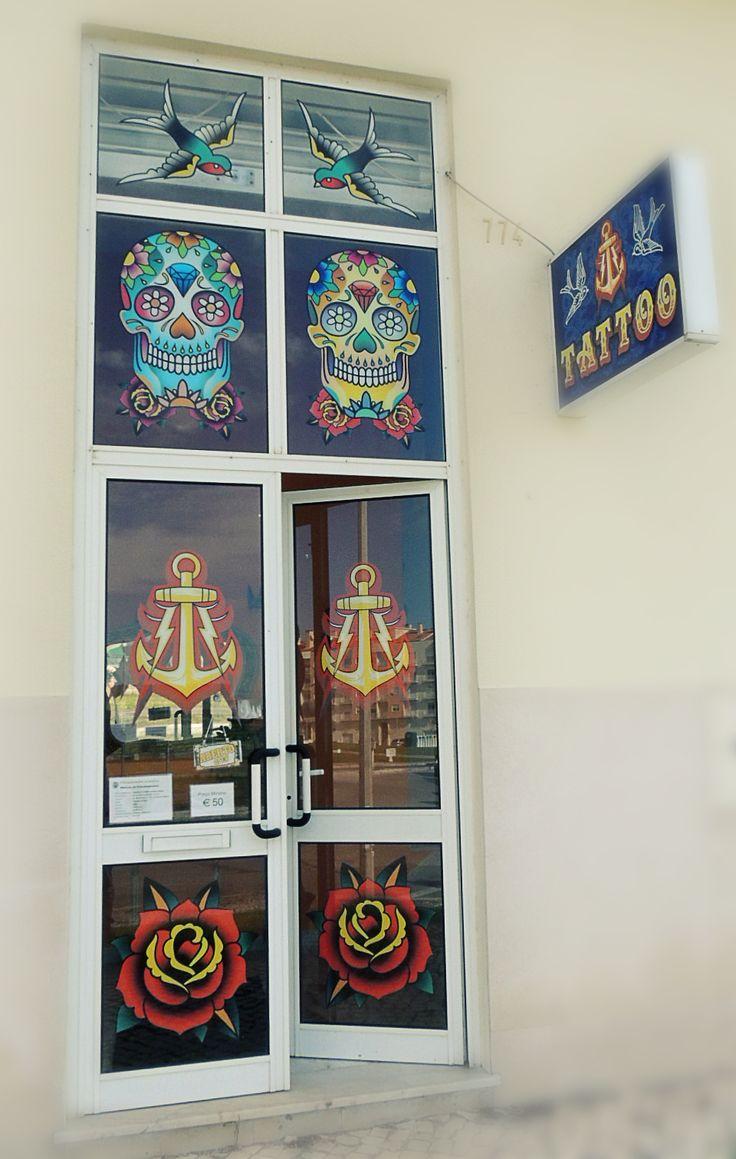 Tattoo, studio, Cidade Montijo, Portugal, Bairro Esteval, facebook: Vinicius Oliveira Tattoo Studio, Tattoo artist, ancora, anchor, skull mexican, shop