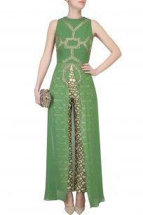 Olive Embroidered Long Tunic #perniaspopupshop #SVA #clothing #ethnic…