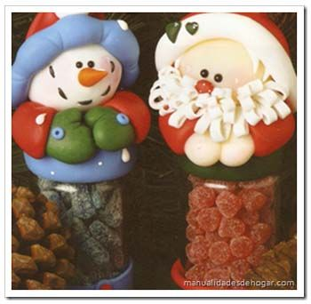 frascos de vidrio decorados para navidad pasta francesa