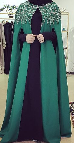 Emerald cape overcoat