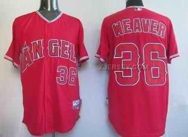 http://www.xjersey.com/angels-36-weaver-red-jersey.html ANGELS 36 WEAVER RED JERSEY Only $34.00 , Free Shipping!