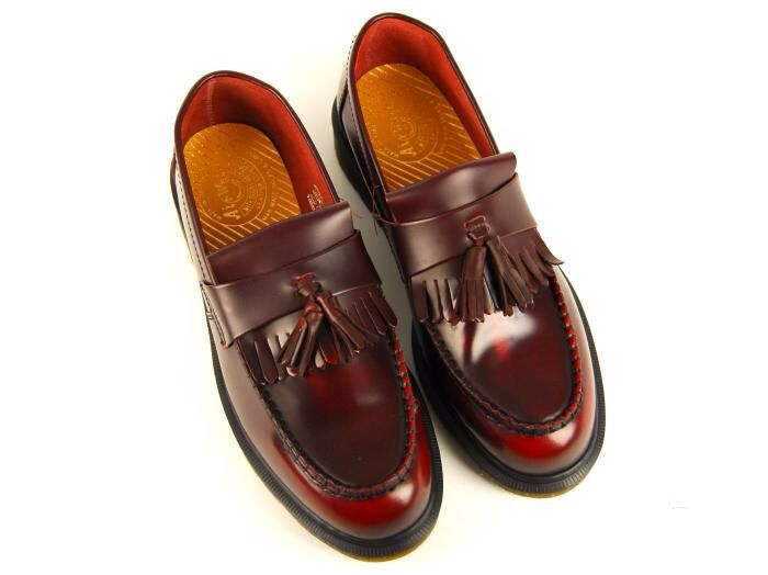 Martens Adrian loafer in red.