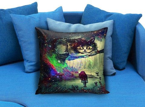 Alice in Wonderland and Cheshire Cat Pillow case #pillow #case #pillowcase #custompillow #custom