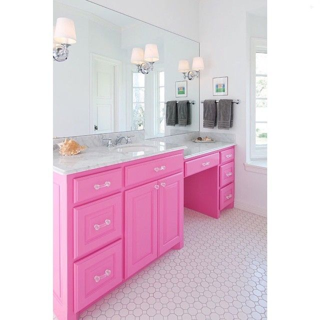 a pink bathroom vanity thoughts on this we it