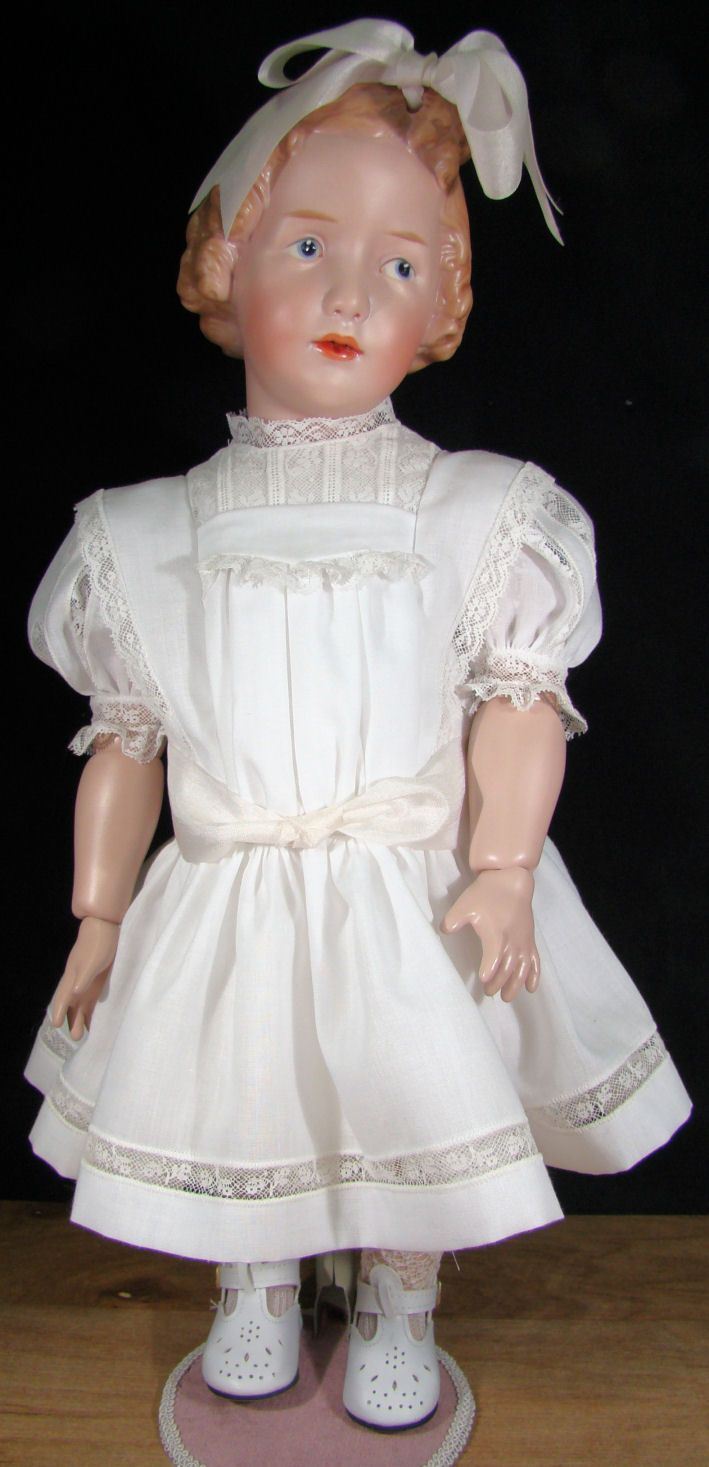 Porcelain Dolls for Sale - The Sister in White Close Up Photos