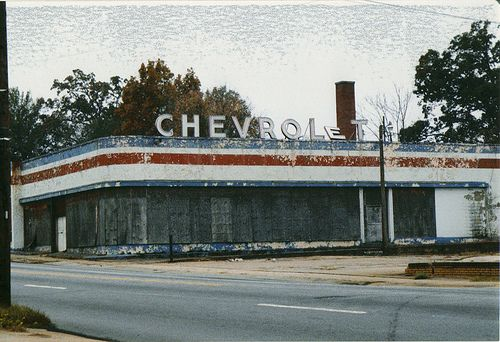 Old Chevy Dealership by slade1955, via Flickr